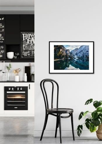 Poster Lago di Braies - Stillhet i ljus 2