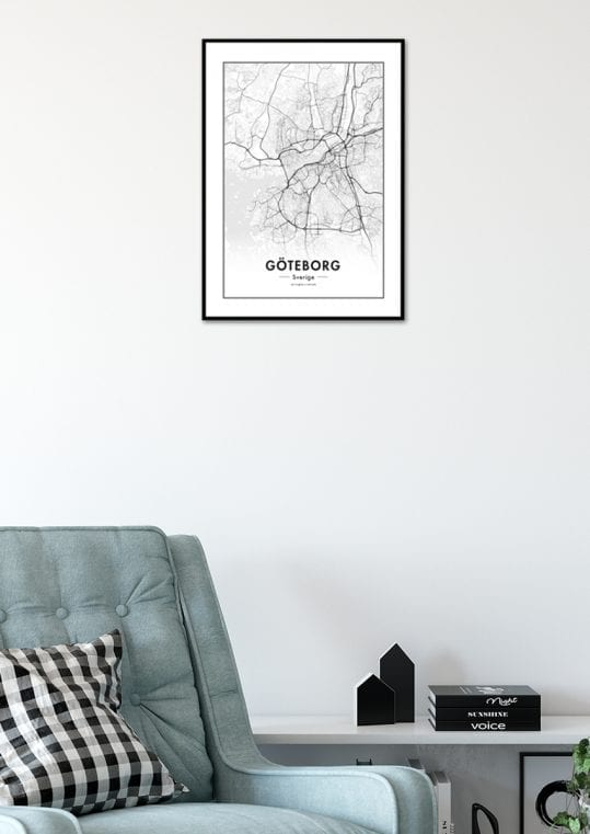Poster Göteborgskarta 2