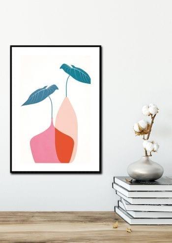 - Kubistika PosterScandinavian Bouquet Rouge 2