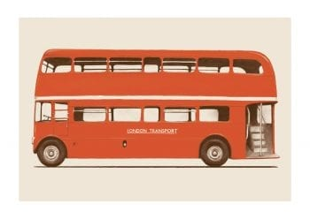 - Florent Bodart PosterLondon Bus 1