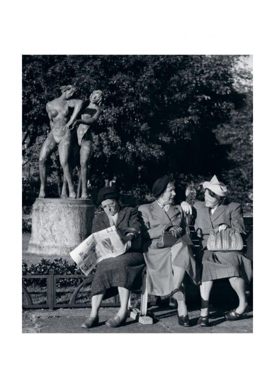Poster Damer på parkbänken 1