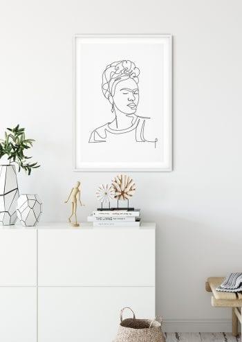 Poster Frida Kahlo Lineart 2 2