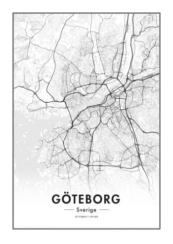 Poster Göteborgskarta 1