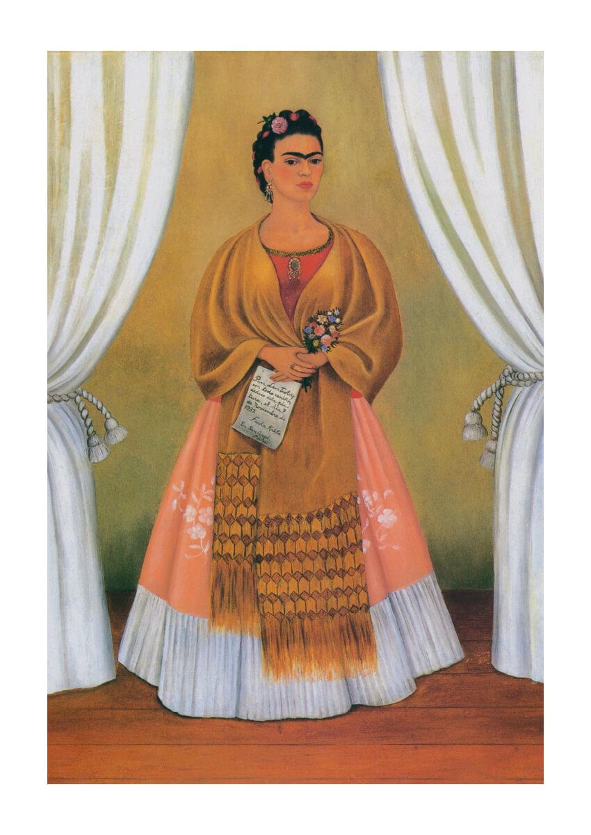 Poster Frida Kahlo självporträtt 1