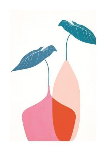 - Kubistika PosterScandinavian Bouquet Rouge 1