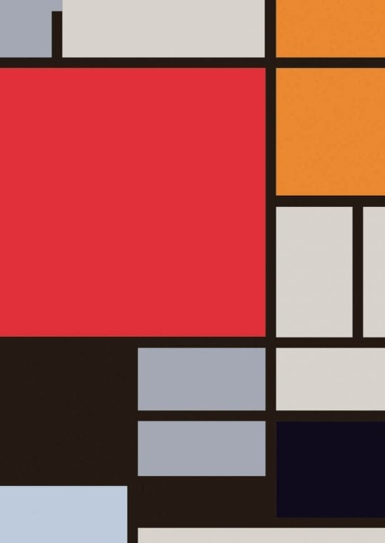 Poster Mondrian Large Red 1