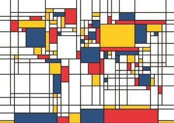 Poster Mondrian World 1