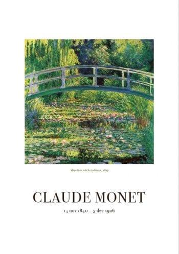 Poster Claude Monet Näckrosdamm 1