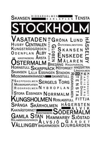 Poster Stockholm Ordtavla 1