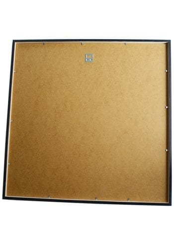 Svart ram kvadratisk 12 mm målad furu 2
