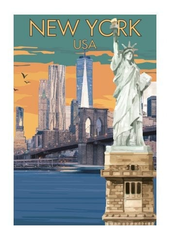 Poster New York Vintage Retro 1