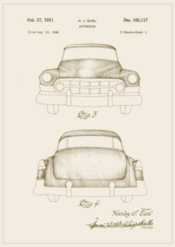 Poster Cadillac patent 1