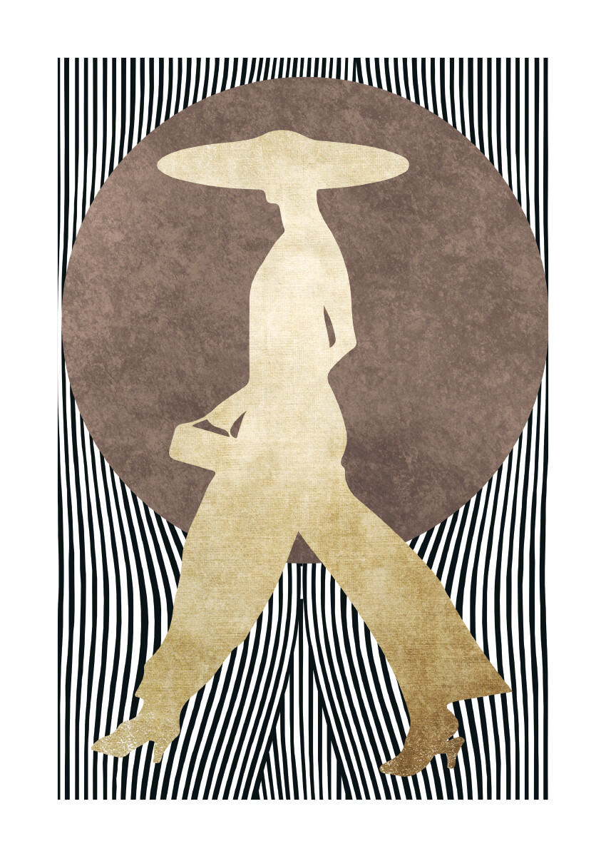 – Kubistika PosterGolden Madame 1