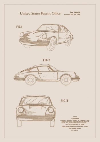 Poster Patent Porsche 911 1