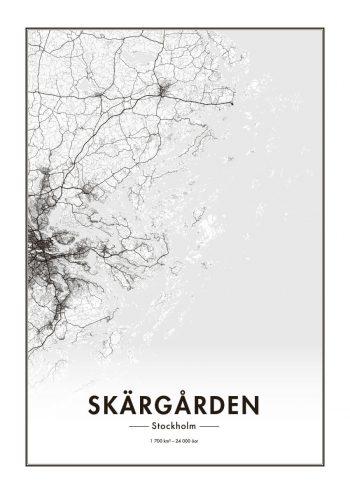 Poster Stockholms Skärgård karta 1