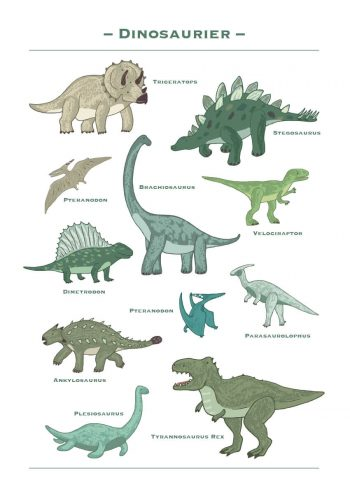 Poster Dinosaurier 1