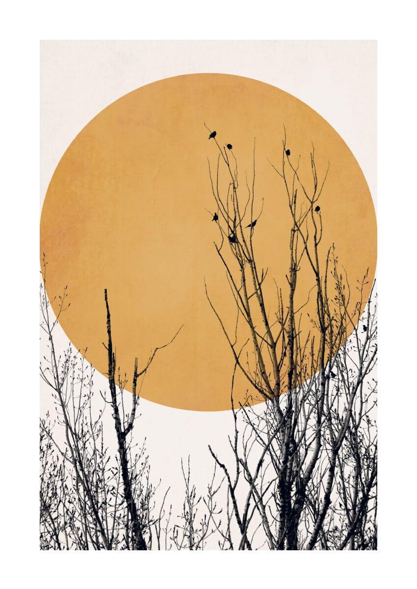 – Kubistika PosterSunset Dream Yellow 1