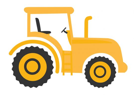 Poster Traktor gul 1