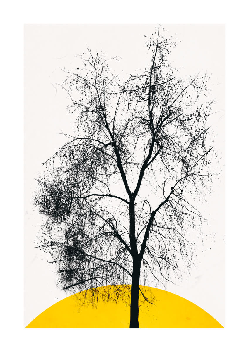 – Kubistika PosterDark Tree 1