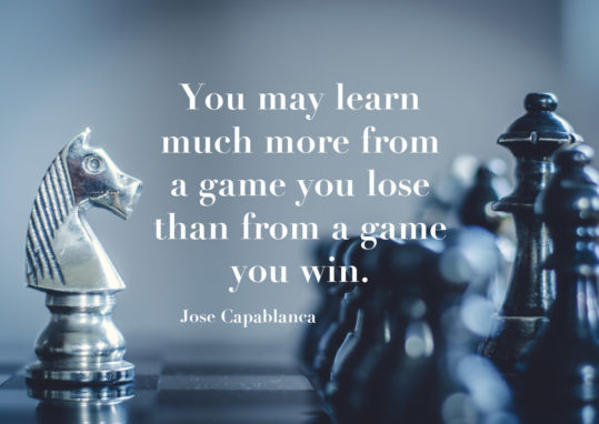 Poster You may learn much more from a game you lose... 1