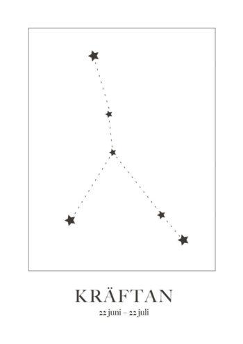 Poster Kräftan Stjärntecken 1