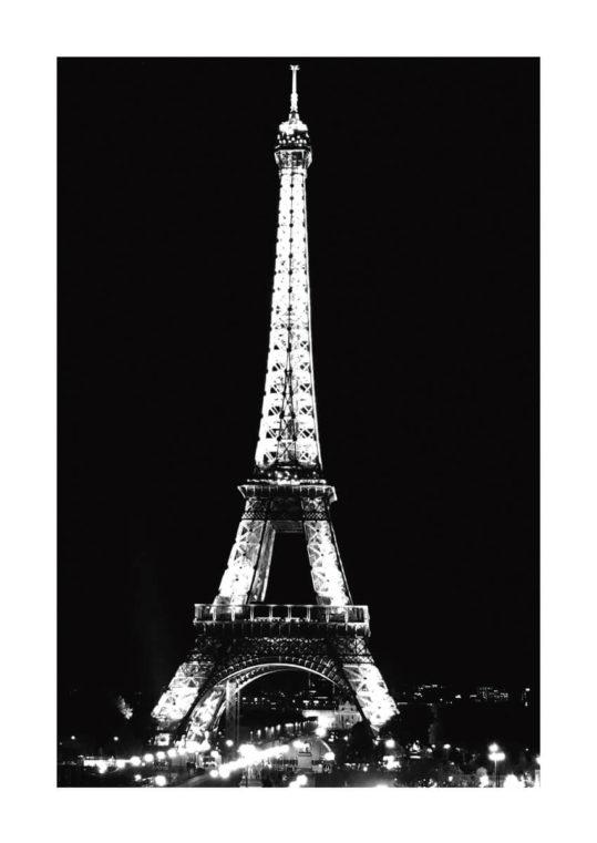 Poster Paris Eiffeltornet 1