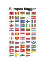 Poster Europas alla flaggor 1