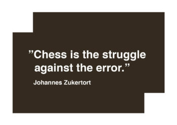 Poster Chess is the struggle against the error - Citat schack 1