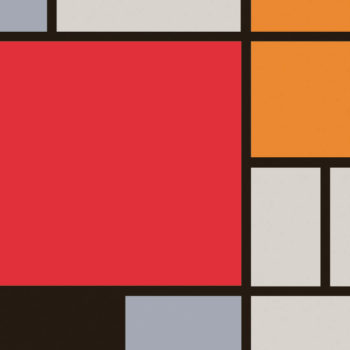 Poster Mondrian Large Red 2