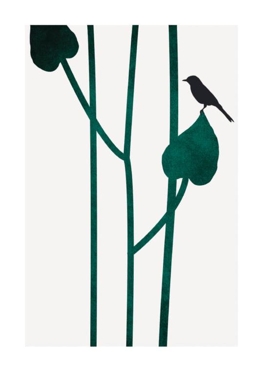 - Kubistika PosterBird Green 1