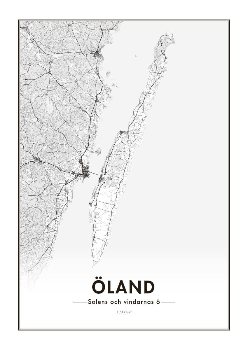 Poster Ölandskarta 1