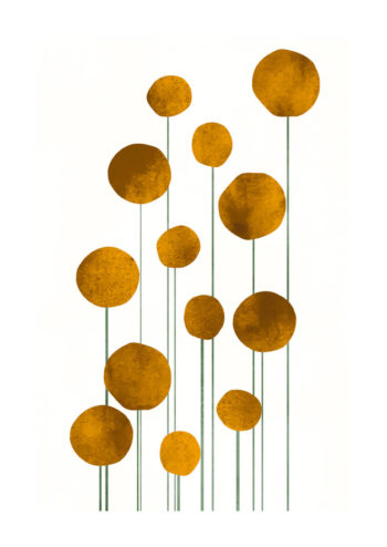 - Kubistika PosterYellow Waterflowers 1