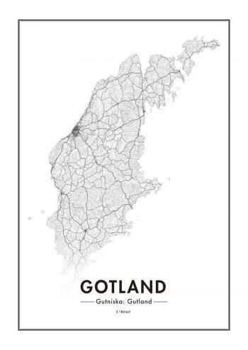 Poster Gotlandskarta 1