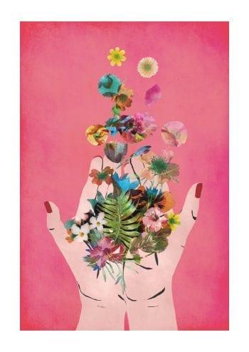 Poster Fridas hands pink 1